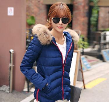 2015冬新款双十一促销品牌羽绒服韩版拼色拉链短款羽绒服