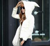 韩国实拍 2015冬季新品魔法帽轻薄羽绒服 韩版女短款棉服外套
