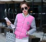 冬季新款靓装少女学生甜美可爱热卖棒球棉服 防寒防风服