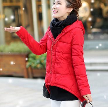 新款2015棉衣女韩版修身保暖时尚大毛领连帽中长款羽绒棉服